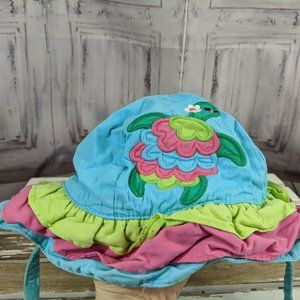 Gymboree turtle baby toddler sun hat 12-24 month s